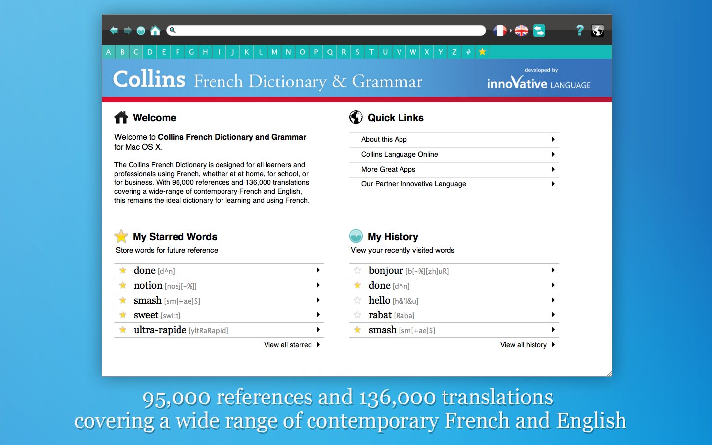 Screenshot 1 - Collins French Dictionary