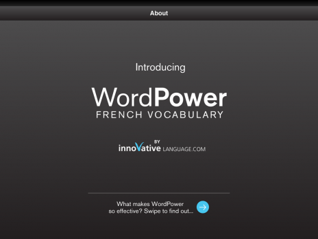 Screenshot 1 - WordPower for iPad - French
